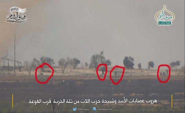 Армия Асада отступает с позиции Tell al-Khirbah