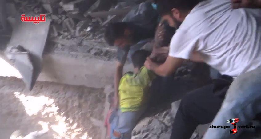 Результаты бомбардировки, провинции Хомс, Сирия