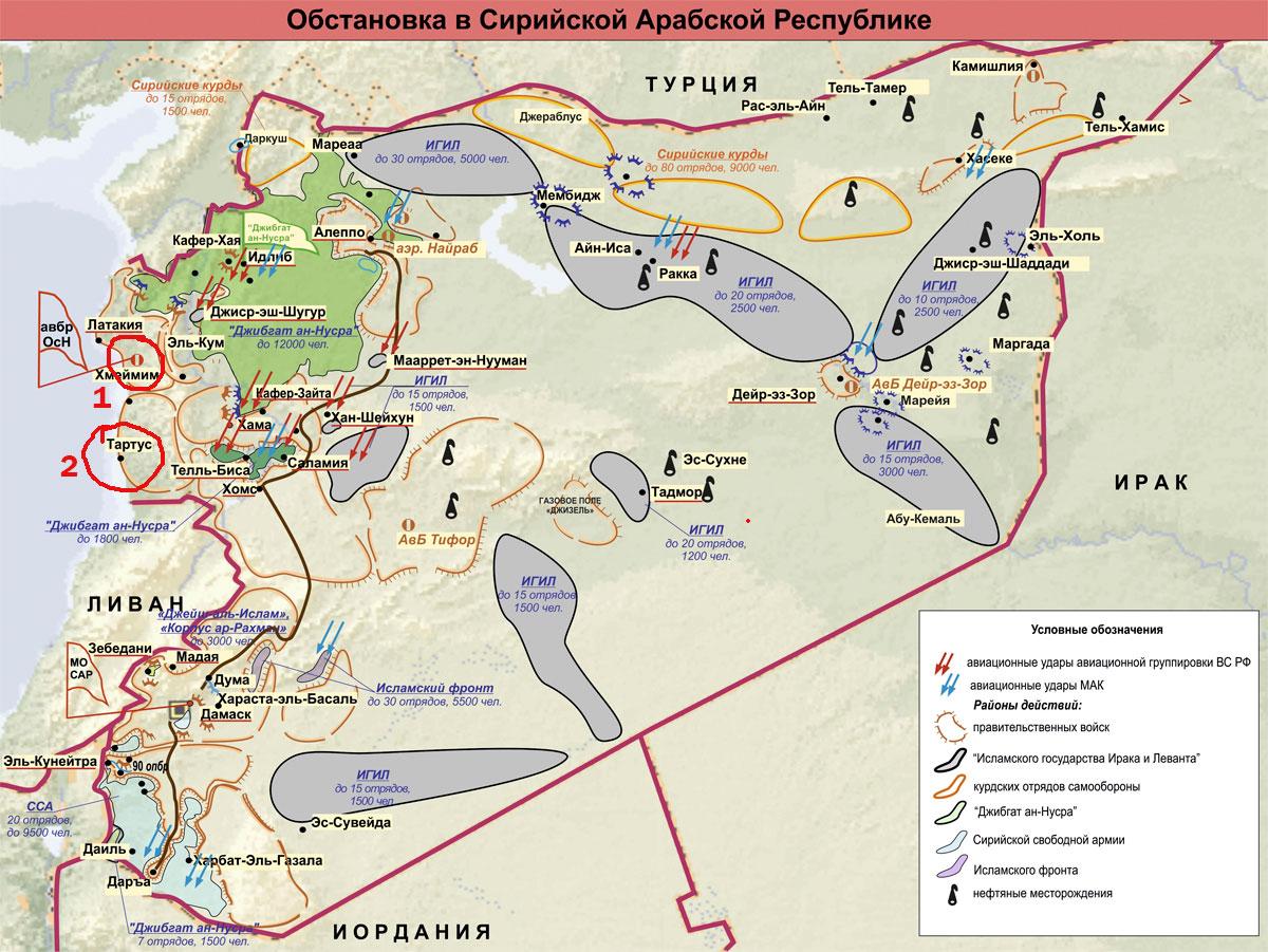Военные базы РФ в Сирии