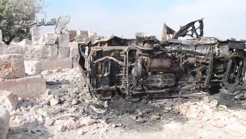 Российская авиация уничтожила тренировочный лагерь мереных повстанцев FSA в провинции Идлиб, Сирия
