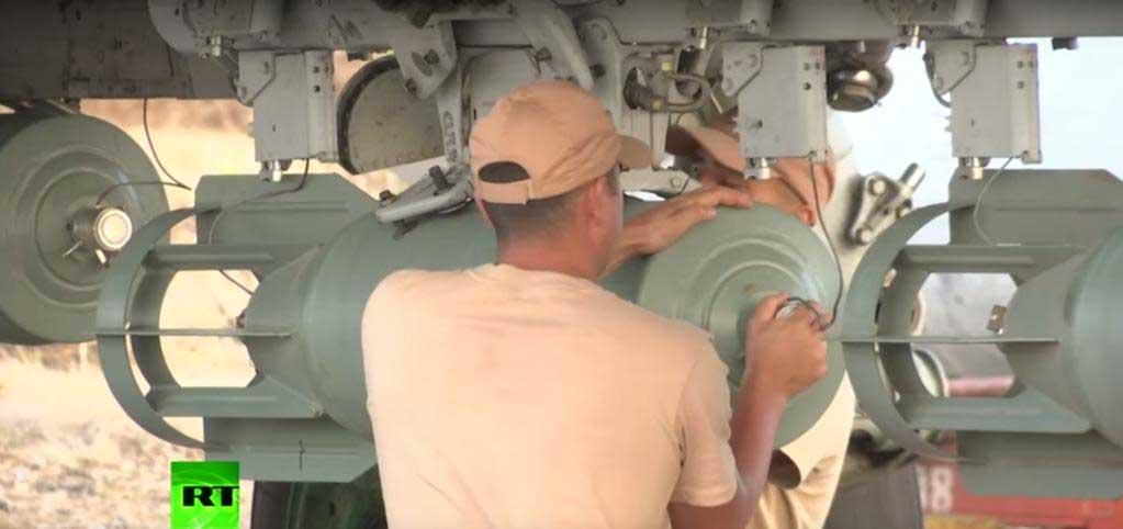 Российские самолеты в Сирии вооруженны неуправляемыми осколочно фугасными бомбами ОФАБ 250-270