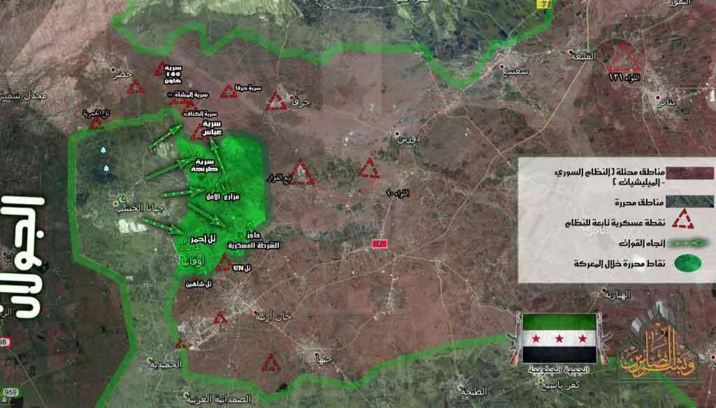 Успех оппозиции в Кунейтра, Асад теряет несколько высот