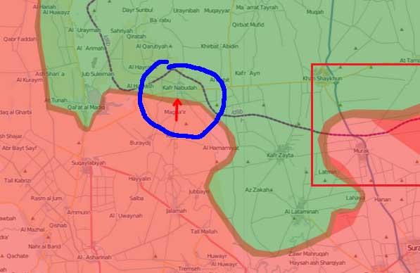 Разгром сил Асада в районе населенного пункта Kafranbouda(Kafr Nabuda)