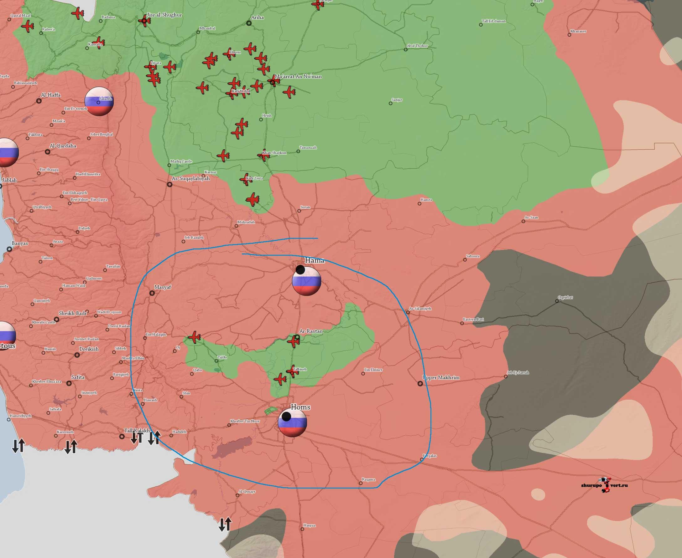 """Режима Асада и Российский """"экспедиционный"""" корпус, готовиться атаковать силы оппозиции в Хомсе"""