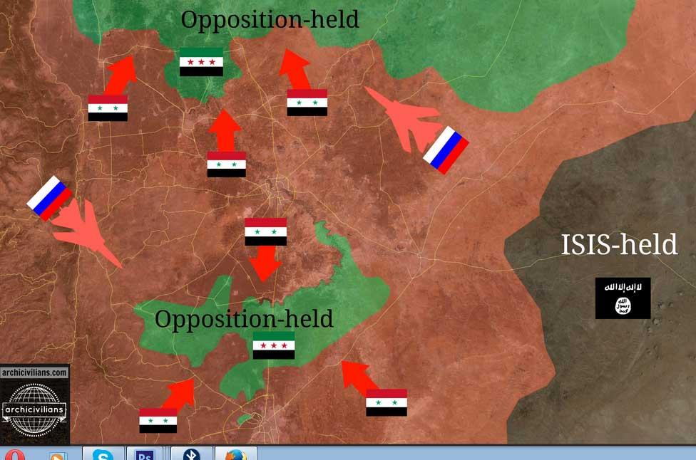 Как Асад воюет с ИГИЛ при поддержки России, Ирана и Хезболлы (Карта наступательных действий)
