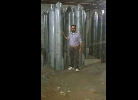 """ВПК Сирийских повстанцев выпустила новую газ-баллонную ракету - """"Омар"""""""