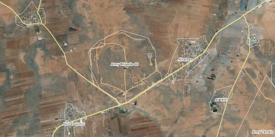 Сообщается о захвате силами оппозиции, территорий небольшой бригады (66я бригада)