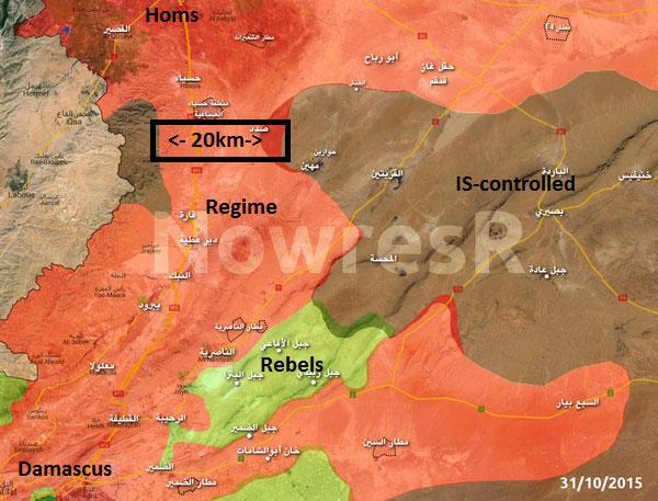 Теперь у Асада появился еще один тунель... 20 км зона Асада и ИГИЛ с обеих сторон