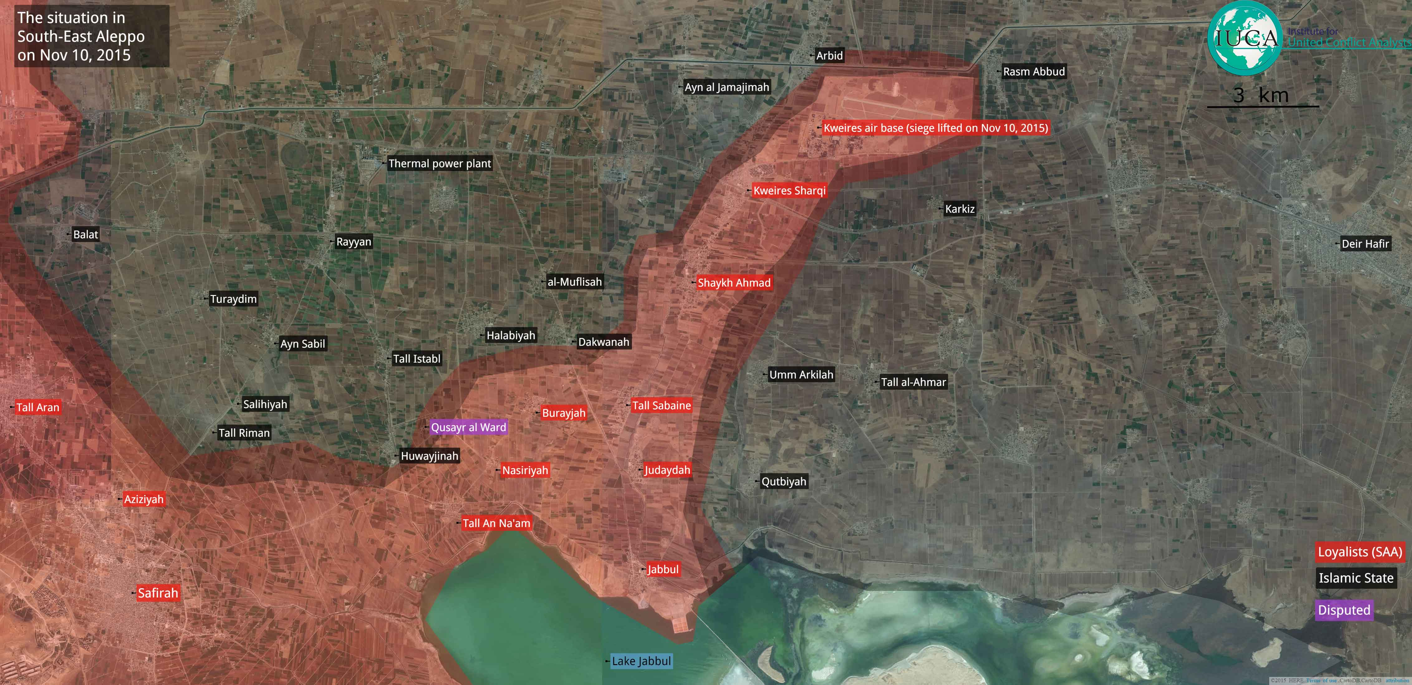 Асад при помощи Ирана и России снял осаду с военного аэродрома Кувейрис, Алеппо, Сирия