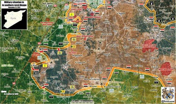Серьезный прорыв Южного фронта силами шиитских боевиков из Ирака, провинция Алеппо, Сирия