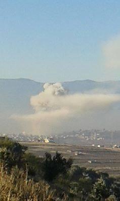 Ракетный удар Al-Sahan, провинция Идлиб, Сирия, территория повстанцев
