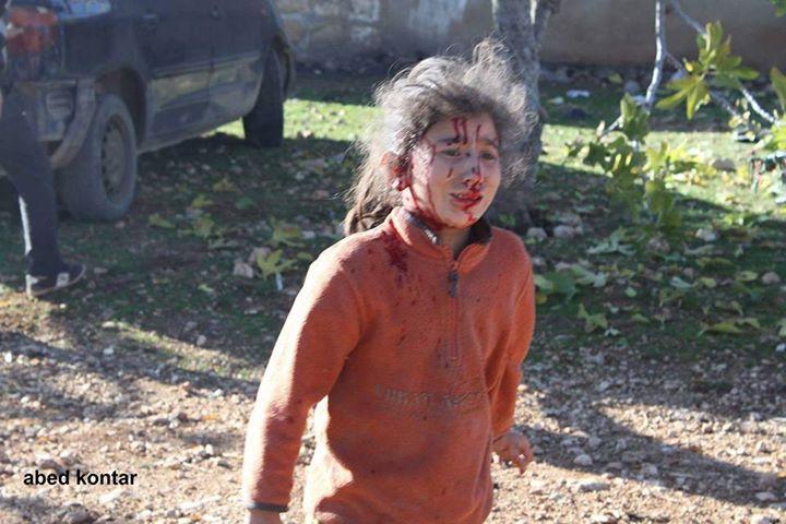Ракетный удар Айн-эль Араб, Идлиб, Сирия, территория повстанцев