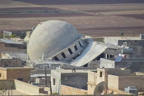 Уничтоженная мечеть Сирия