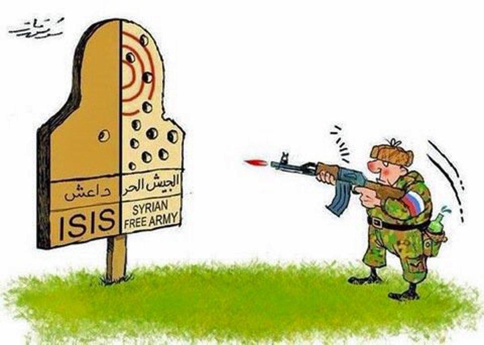 Как выглядит войны России и Турции с ИГИЛ в Сирии, через призму художественной карикатуры