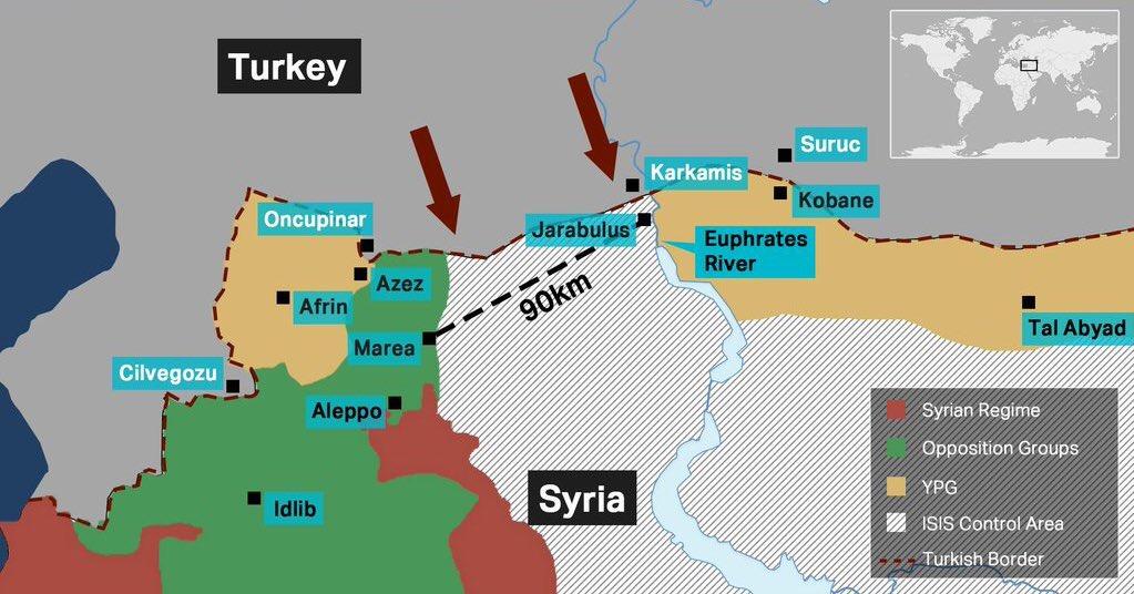 Идея буферной зоны против ИГИЛ вдоль границы с Турцией, снова актуальна