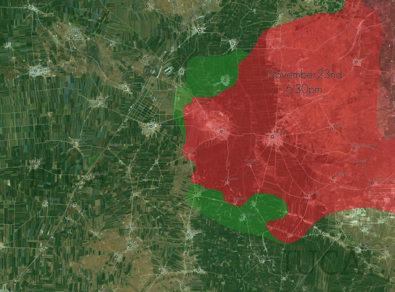 Контрнаступления сил сирийской оппозиции против шиитских боевиков Асада, в провинции Алеппо, Сирия (Карта)