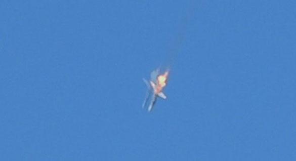 Падении сбитого российского СУ-24
