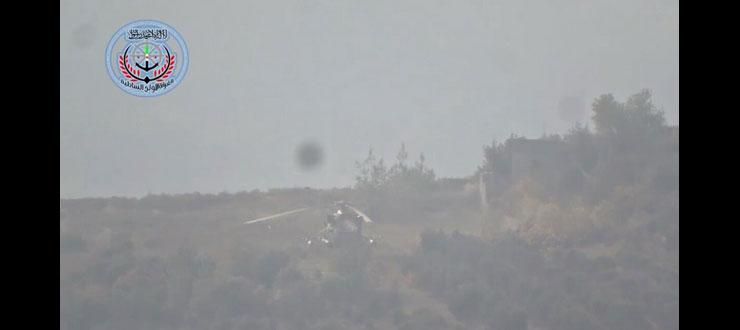 МИ-8 после посадки в горах Латкии
