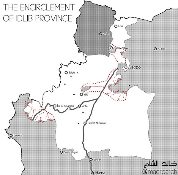 План наступательной компании коалиции Асад, Иран, Россия, против сунитской сирийской оппозиции