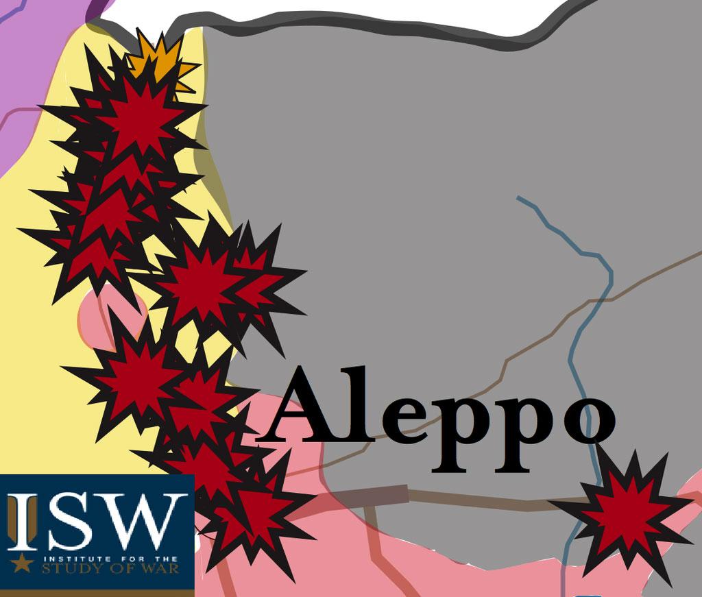 Россия воюет с ИГИЛ, но бомбит Сирийскую оппозицию, карта авиаударов Южный Алеппо