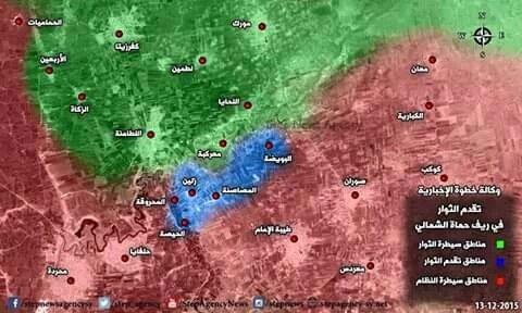 Возобновилось наступление сирийской оппозиции в провинции Северная Хама, Сирия