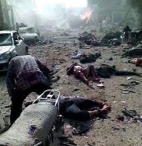 Авиа удары российских самолетов по Алеппо и Асадовских по Думе, Сирия +18