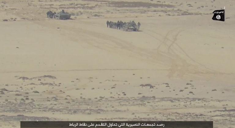 Как силы Асада совместно с авиацией РФ штурмуют позиции ИГИЛ в районе города Пальмира, Сирия
