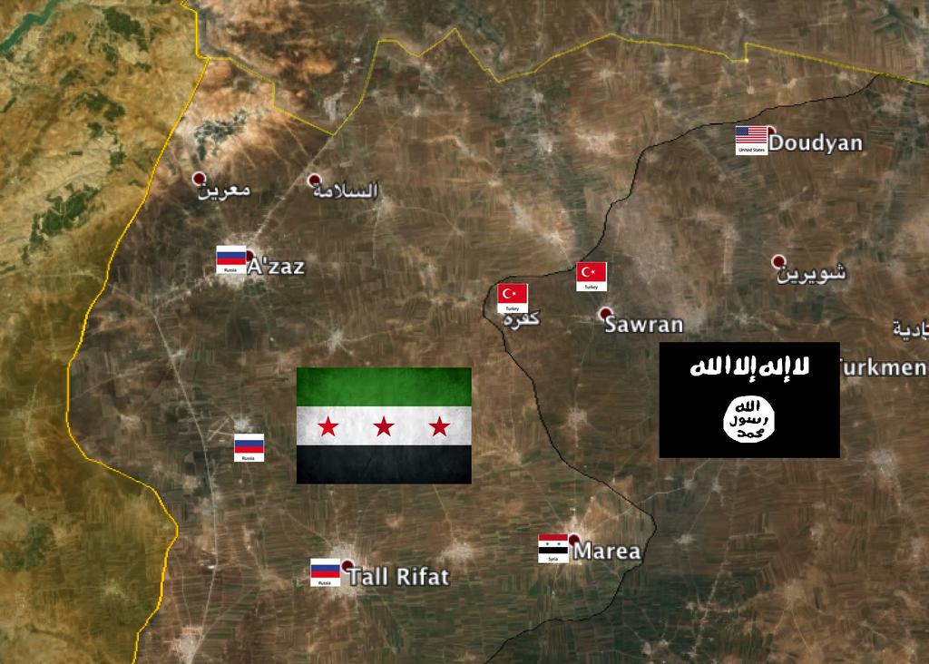 Почему ИГИЛ так долго не могут победить, на примере карты и басни Крылова: Лебедь, Щука и Рак