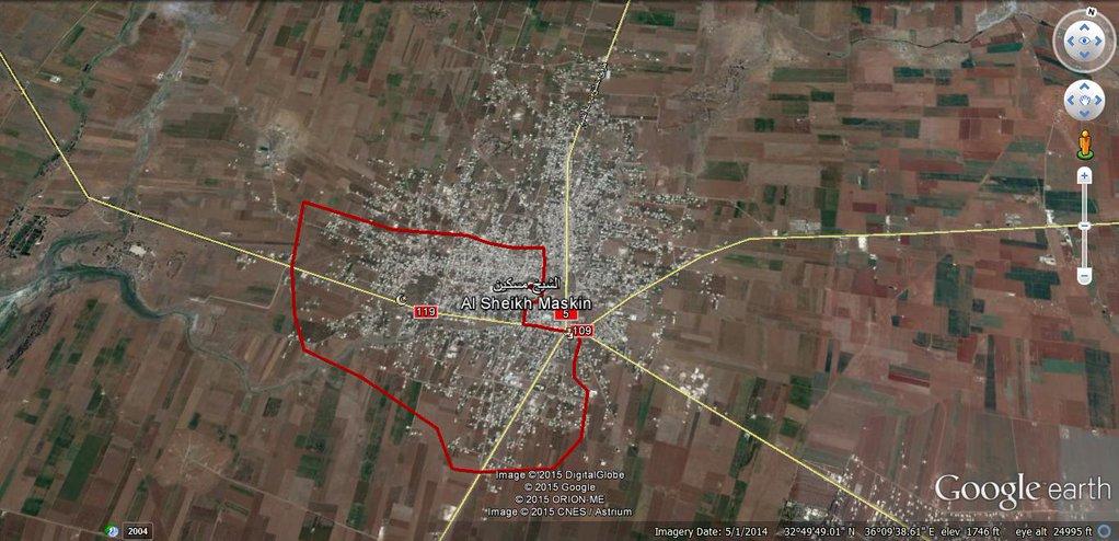 карта Асадистов, как они видят обстановку в городе