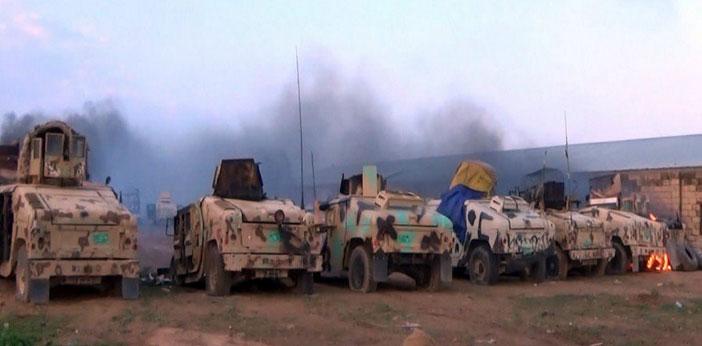 Иракская армия атакована боевиками ИГИЛ в Рамади, Ирак