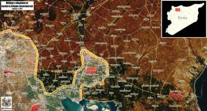 Результат трех месячной военной компании режима Асада, Ирана и России против ИГИЛ (карта), Алеппо, Кувейрис, Сирия