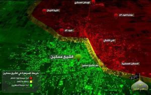 Сражение за город Sheikh Maskin, Дараа, Сирия продолжается