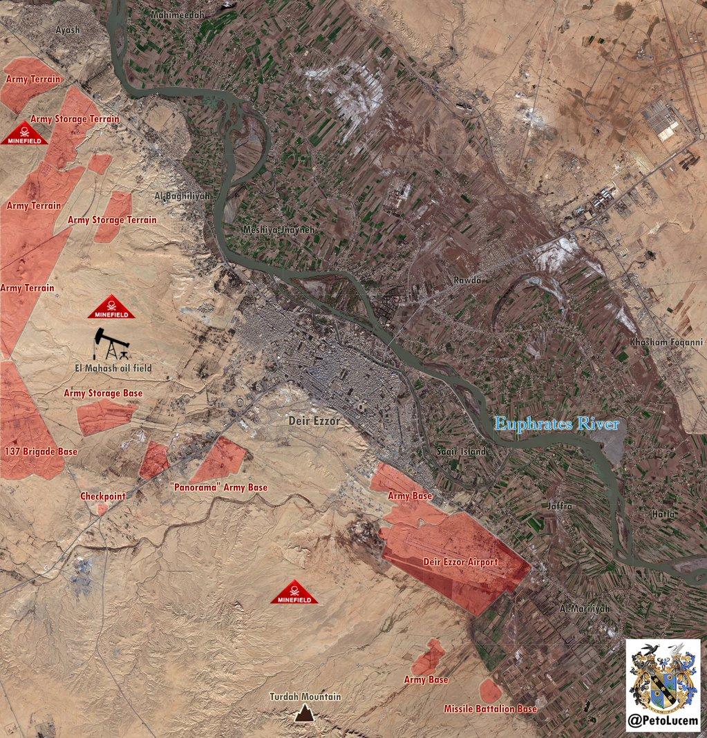 Массированное наступление ИГИЛ против сил Асада, в провинции Дейр-эз-Зор