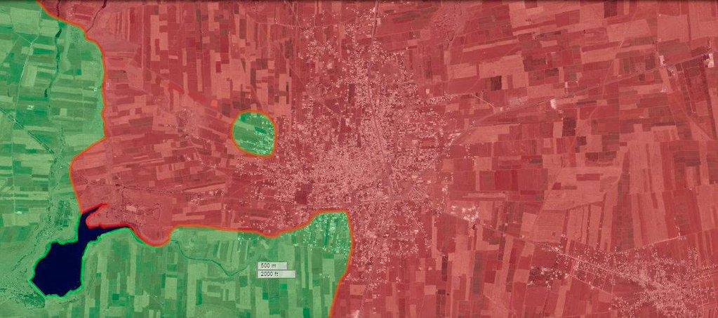 Город Шейх Маскин, провинция Дараа, находится на 90% под контролем сил режима Асада и поддерживающих его шиитских боевиков