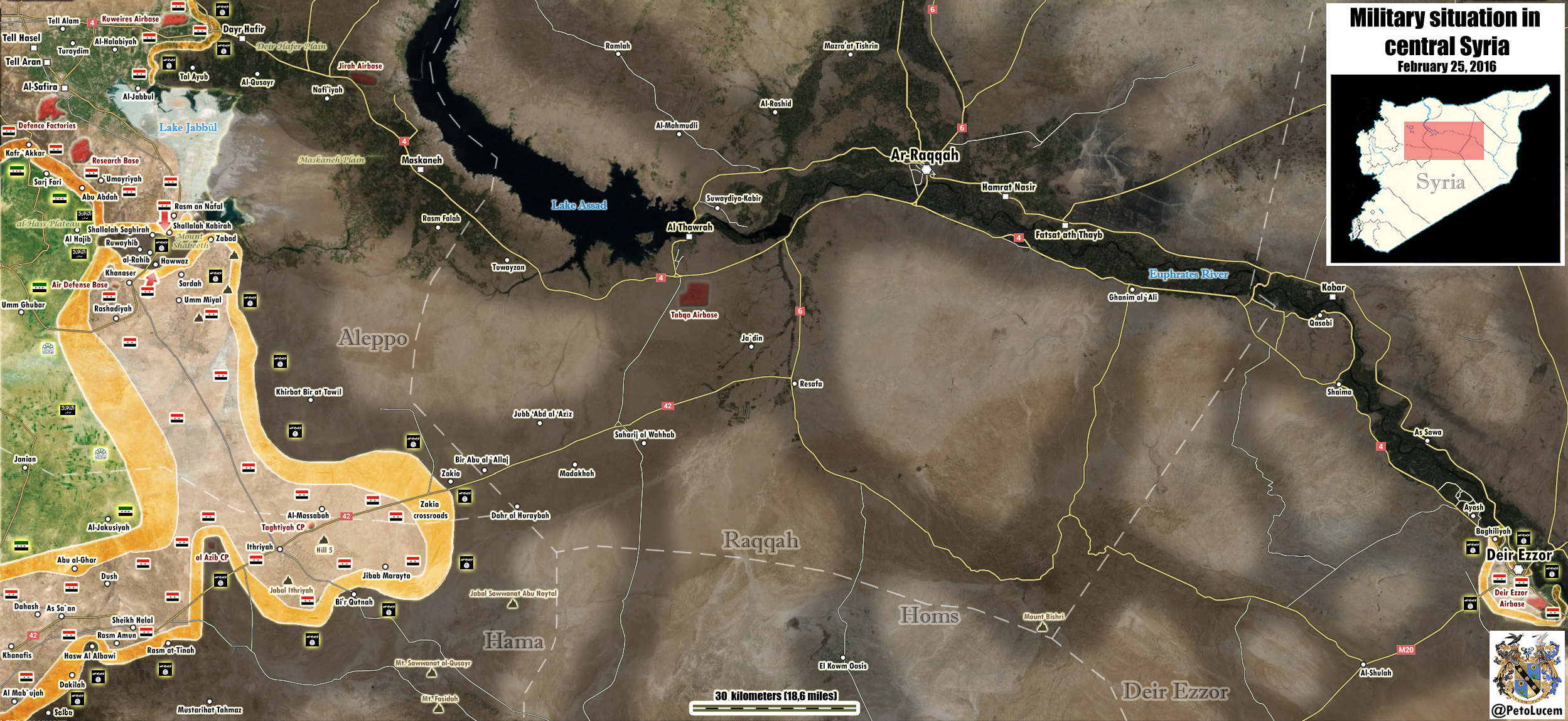 """Асадисты наступают на боевиков ИГИЛ, пытаясь деблокировать """"котел"""" Алеппо, в который попала САА и проиранские боевики"""