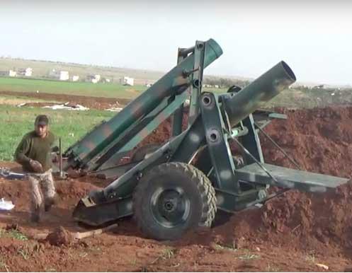"""Новые """"Ад пушки"""" сирийской оппозиции появились в провинции Хама, Сирия"""