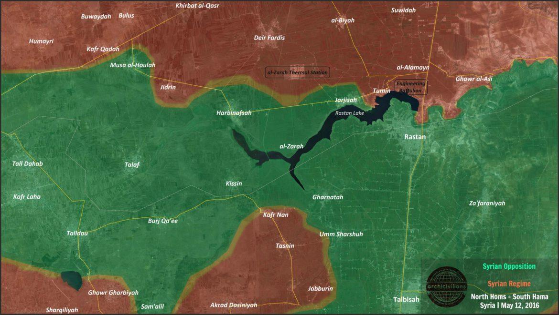 Сирийская оппозиция захватила городок Зара и ж.д станцию Harbinafsah Railway.