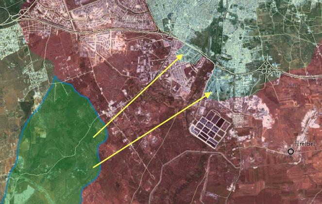 Снабжение сирийских войск в городе Алеппо, под угрозой