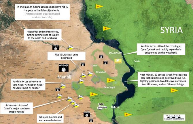 Карта наступления SDF