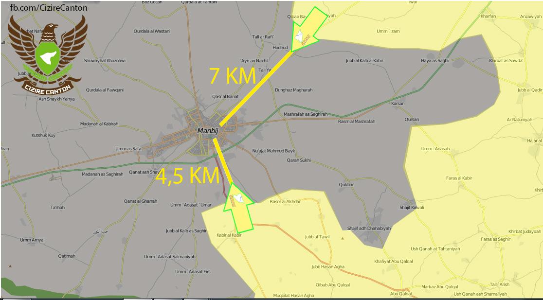 Карта наступлений: SDF на Manbij и наступление Асада на Ракку