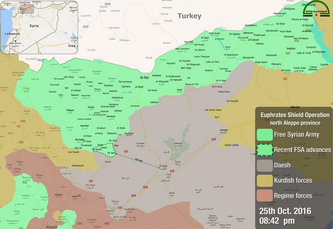 Турки вместе с FSA захватили у ИГИЛ 1300 км за 1 месяц, Россия и союзники захватили у ИГ 10-20 км