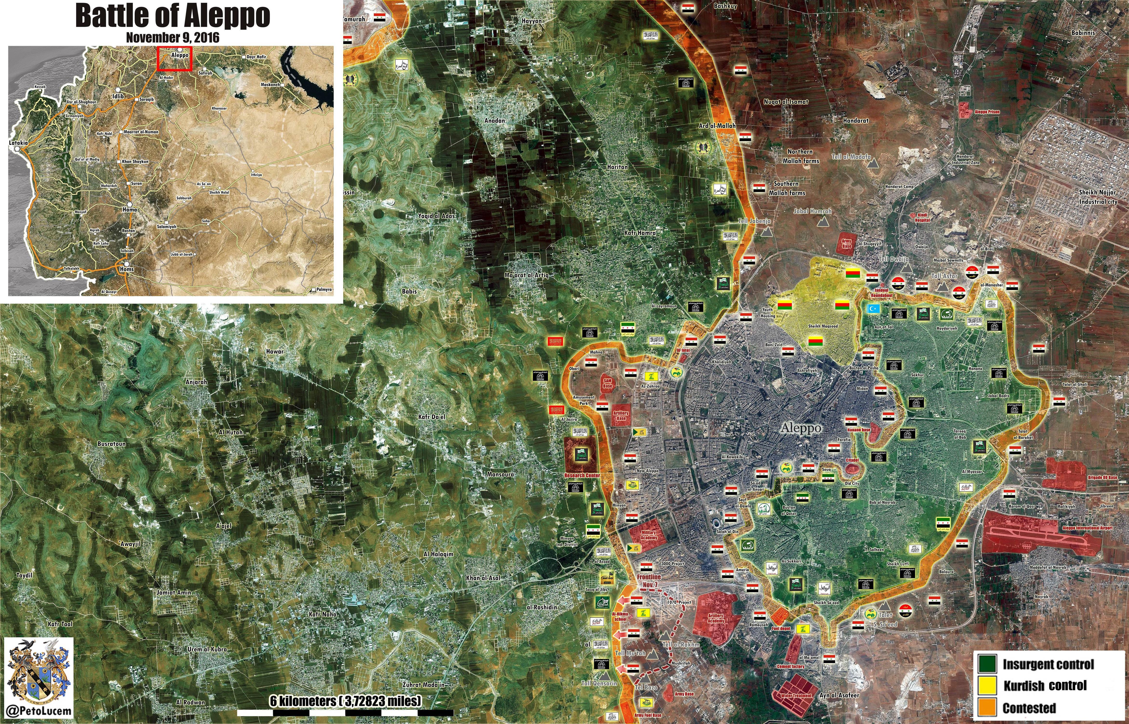 Силы Асада закрепились в районах, ранее занятых в Западном Алеппо