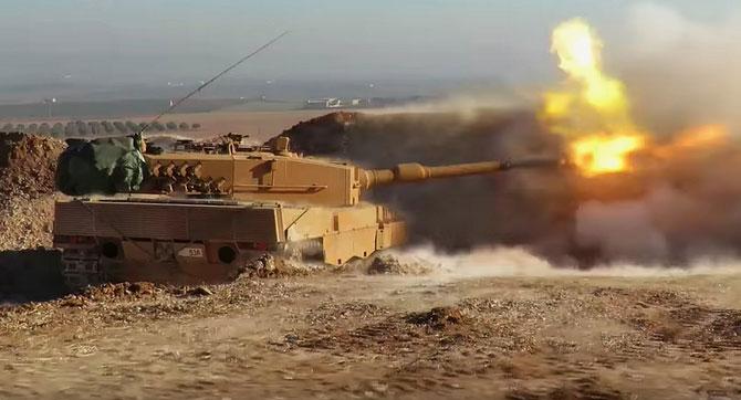 В боях на территории Сирии впервые применяется основной танк Leopard (Турция)