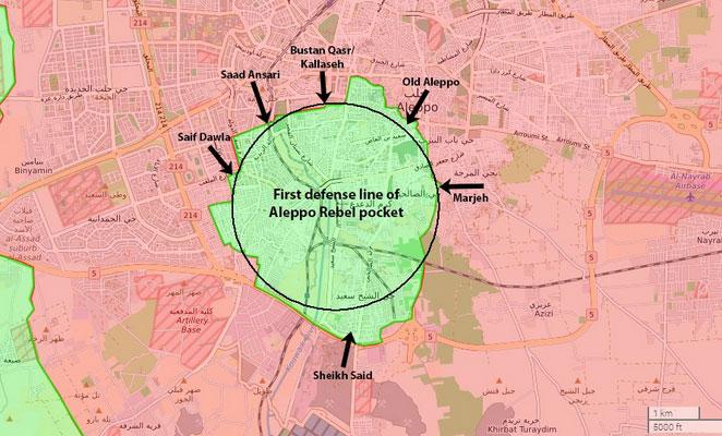 Битва за Алеппо, сирийская оппозиция оставила себе 20 км2 города
