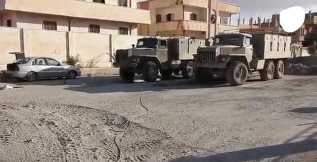 Брошенная военная техника сил Асада и войск РФ в городе Пальмира