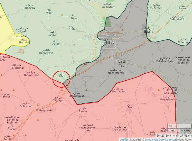Аль-Баб наступление FSA, Турции, САА при поддержке ВКС РФ основные события