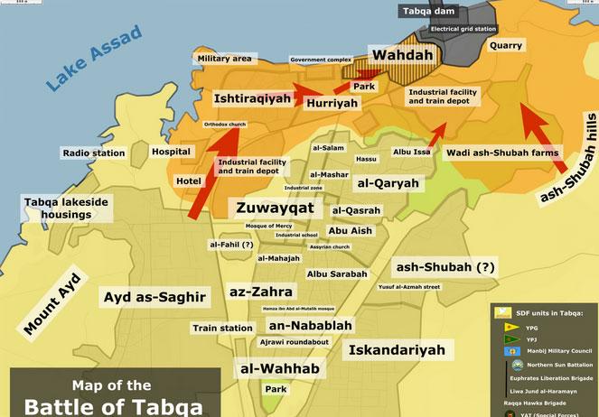 Карта: SDF захватил город Табка