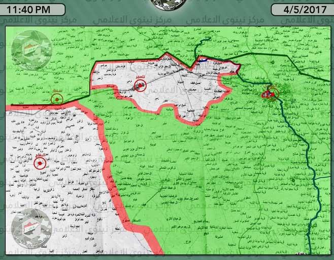 Карта города Мосула, Ирак, по состоянию на 04.05.2017