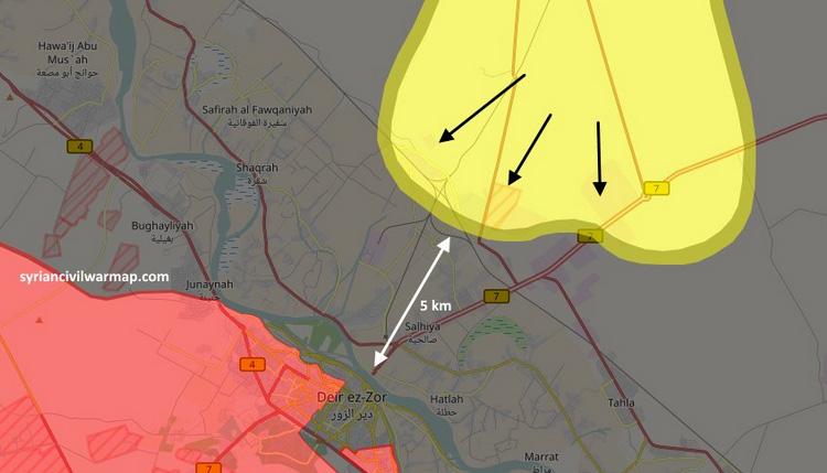 SDF устремился к Дейр-аз-Зор, он уже в промышленных кварталах, до реки 5 км.