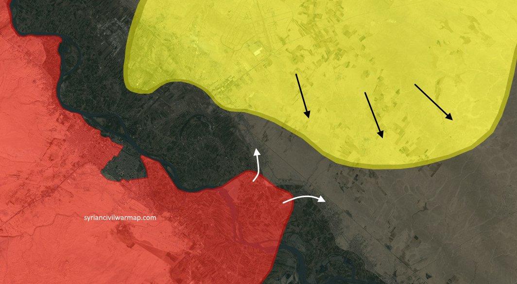 SDF захватили Tabiyeh, Tabiyeh нефтегазовые поля, а также нефтегазовые поля El-Isba (подтвержденно Иранским новостным агентством)